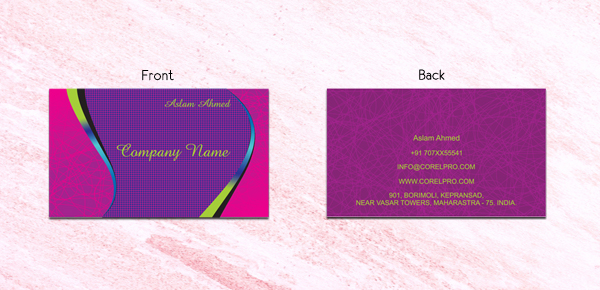 Fancy business card templates
