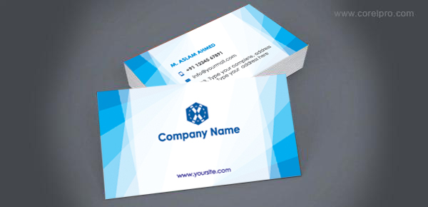 Business Card Template For Free Download Corelpro - Free downloadable business card templates