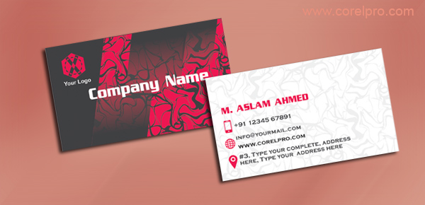 Business card template red corelpro business card template red in coreldraw format for free download wajeb