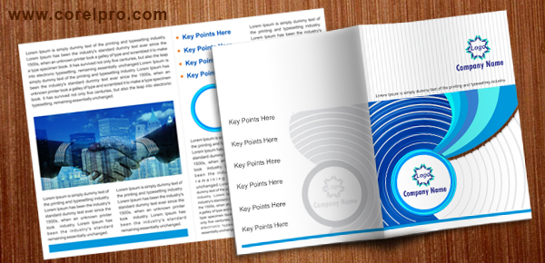 A4 brochure template corelpro for Coreldraw brochure templates